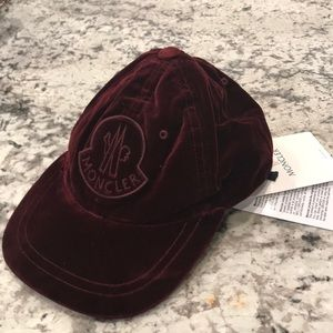 New Moncler bold Logo adjustable baseball hat $290